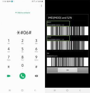 Check IMEI Number in Samsung