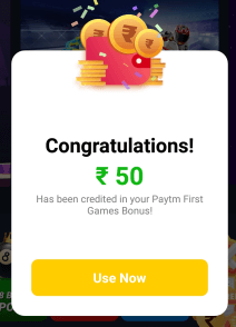 PayTM First Games Referral Code